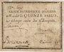Banknotes Amiens. Caisse patriotique. Mandat de 15 sous n. d.