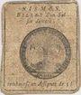 Banknotes NÎmes. Billet de 1 sol 6 deniers n. d.