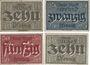 Billets Alzey. Stadt. Billets. 10, 25, 50 pf 31.12.1919 , 10 pf 1.2.1921