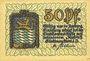 Billets Amberg. Stadt. Billet. 50 pfennig 1919
