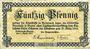 Billets Andernach und Mayen. Städte. Billet. 50 pfennig 1.4.1917