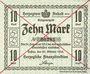 Billets Anhalt. Herzogliche F. D. Billet. 10 mark 29.10.1918, Annulation par traits en diagonal