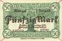 Billets Anhalt. Herzogliche F. D. Billet. 50 mark 1.11.1918, Annulation par traits en diagonal