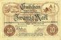Billets Annaberg. Amtschauptmannschaft. Billet. 20 mark 1.11.1918 timbre sec, cachet d'annulation