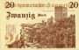 Billets Annweiler. Stadt. Billet. 20 mark 5.11.1918