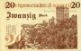 Billets Annweiler. Stadt. Billet. 20 mark 5.11.1918