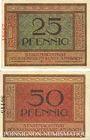 Billets Ansbach. Stadt. Billet. 25 pf, 50 pf  1.11.1918