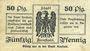 Billets Arnstadt. Stadt. Billet. 50 pf 1.3.1917 - 31.12.1919