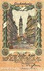 Billets Augsburg. Stadt. Billet. 50 pfennig du 1.1.1918