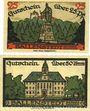 Billets Ballenstedt am Harz. Stadt. Billets. 25 pf, 50 pf 28.9.1920