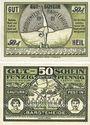 Billets Bargteheide. Gauturnsfest des Travegaues. Billets. 50 pf (2ex) 2.7.1921