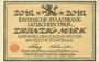Billets Bayern. Bayerische Staatsbank. Nürnberg 1918. Billet. 20 mark 15.11.1918