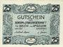Billets Belzig - Konsum- und Spargenossenschaft. Billet. 25 pfennig n. d.