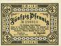 Billets Bensheim. Stadt. Billet. 50 pfennig 31.12.1920