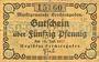 Billets Berchtesgaden. Marktgemeinde. Billet. 50 pfennig 18.7.1917