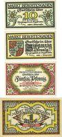 Billets Berchtesgaden. Marktgemeinde. Billets. 10 pf, 20 pf, 50 pf, 1 mark 13.8.1920