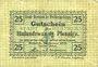 Billets Berneck im Fichtelgebirge. Stadt. Billet. 25 pf janvier 1917