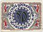 Billets Bielefeld. Stadt. Billet. 50 mark en soie 2.4.1922. Inédit !