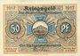 Billets Blankenburg Bad. Stadt. Billet. 50 pfennig 1917
