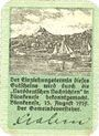 Billets Blankenes. Gemeindesparkasse. Billet. 50 pf 15.8.1919 (fév 1920)