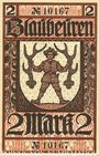 Billets Blaubeuren. Amtskörperschaft. Billet. 2 mark n.d. - 1.8.1919