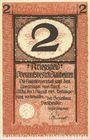 Billets Blaubeuren. Amtskörperschaft. Billet. 2 mark n.d. - 1.8.1919