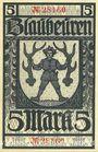 Billets Blaubeuren. Amtskörperschaft. Billet. 5 mark n.d. - 1.8.1919