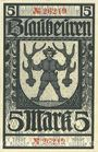 Billets Blaubeuren. Amtskörperschaft. Billet. 5 mark n.d. - 1.8.1919