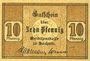 Billets Bochum. Amtssparkasse. Billet. 10 pf 1.4.1917