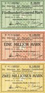 Billets Bremen. Hafenbetriebs-Verein in Bremen. Billets. 500000, 1 million, 2 millions de mk 1923