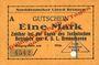 Billets Bremerhaven. Norddeutscher Lloyd Bremen. Billet. 1 mark 1914, annulation par perforation