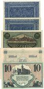 Billets Chemnitz. Finanzvereinigung Chemnitzer Industrieller.Billets. 5 mk(2ex), 20, 50 mk -10 mk