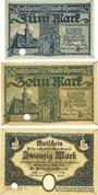 Billets Chemnitz. Stadt. Billets. 5 mark, 10 mark, 20 mark 28.10.1918