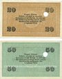 Billets Cologne-Mülheim, Felten & Guilleaume Carlswerk. Billets. 20, 50 mark n.d. - 1.2.1919