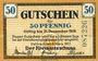 Billets Delitzsch. Kreis. Billet. 50 pf 9.3.1917, sans cachet au revers