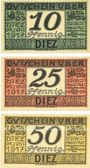 Billets Diez. Stadt. Billets. 10 pf, 25 pf, 50 pf juin 1917 - 31.12.1919