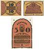 Billets Doberan. Bad Stadt. Billets. 10 pf, 25 pf, 50 pf (1922), Reutergeld