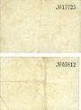 Billets Dramburg (Drawsko Pomorskie, Pologne). Stadt. Billets. 10 pf, 50 pf 1.4.1917