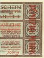 Billets Düren. Stadt. Billet. 50 mark 17.10.1918  imprimé sur 10 mark du 15.9.1917
