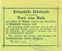 Billets Eidelstedt. Kriegshilfe Eidelstedt. Billet. 1 mark 16.1.1915, au dos : nom manuscrit