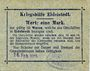 Billets Eidelstedt. Kriegshilfe Eidelstedt. Billet. 1 mark 16.2.1915, au dos : Heinrich Schwarz