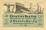 Billets Einswarden. Frerichswerft. Billet. 50 pf janvier 1921. R/: Die Deerns...