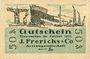 Billets Einswarden. Frerichswerft. Billet. 50 pf janvier 1921. R/: Dien Pär...