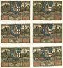 Billets Eisenach. Stadt. Série de 6 billets. 50 pfennig 1921