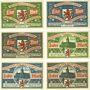 Billets Elberfeld. Stadt. Billets. 1 mark (3ex), 2 mark (3ex) 1.10.1920