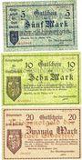 Billets Elberfeld. Stadt. Billets. 5, 10, 20 mark 25.10.1918