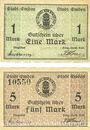 Billets Emden. Stadt. Billets. 1 mark, 5 mark n. d. - 1.2.1919