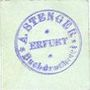 Billets Erfurt. A. Stenger. Buchdruckerei. Billet. 2 pf (1920)