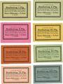 Billets Erfurt. Hans Hillmann. Billets. 1, 2, 5,10, 25, 50, 75 pfennig, 1 mark 1.3.1921