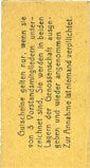 Billets Erfurt. Waren-Einkaufs Abt. des Thüringischen Beamtenvereins. Billet. 1 pf 1.3.1920